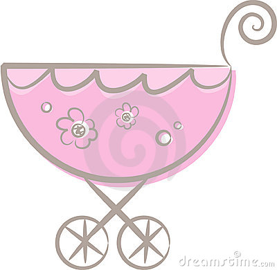 Free A Baby (girl S) Stroller (II) Stock Photography - 10537612