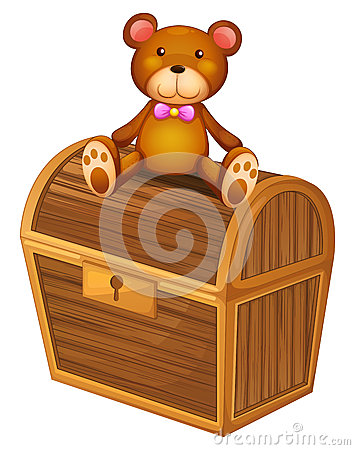 Free A Bear At The Top Of A Treasure Chest Stock Photos - 33693883