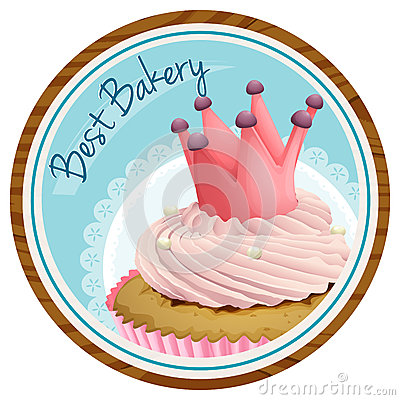 Free A Best Bakery Label With A Cake Royalty Free Stock Photography - 37793577