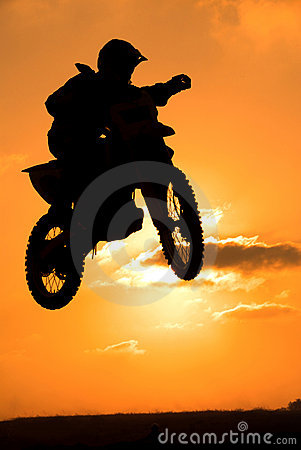 Free A Biker Makes A Big Jump Stock Images - 16851934
