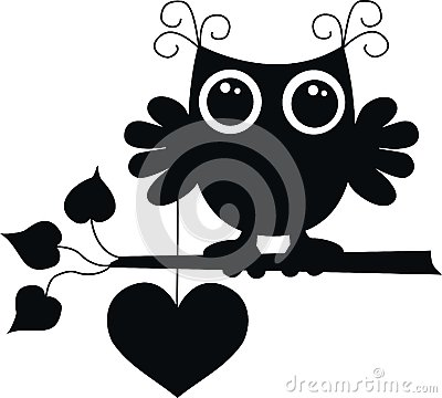 Free A Black Owl With A Big Heart Royalty Free Stock Photography - 25686207