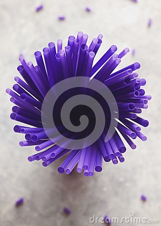 Free A Bouquet Of Purple Straw Stock Photography - 112600002