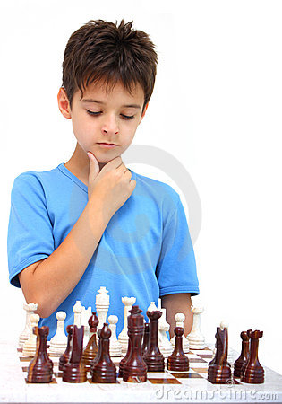 Free A Boy And A Chess Stock Photo - 15359570
