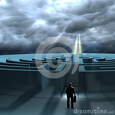 Free A Business Man Ready To Find A Path To Reach Its Destination Stock Photos - 38291353