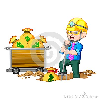 Free A Businessman Doing Coin Mining Royalty Free Stock Image - 130519876
