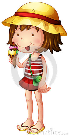 Free A Child Eating An Ice Cream Royalty Free Stock Image - 33689396