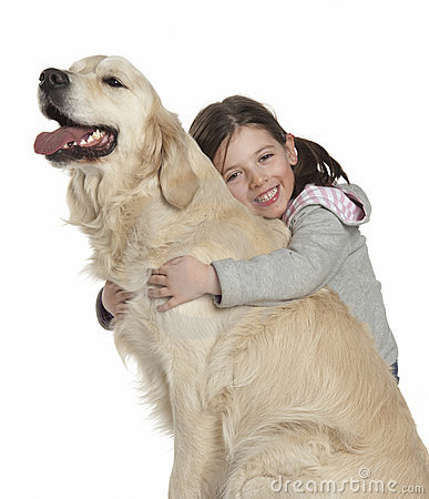 Free A Child With Her Dog Stock Photo - 21148820