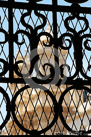 Free A Church Through A Wrought Iron Gate, From Noto Stock Photos - 41837243