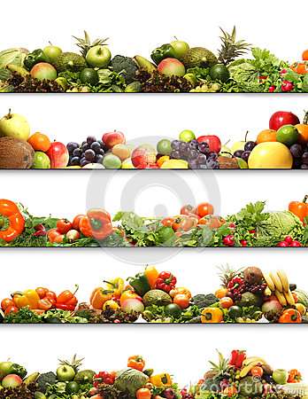 Free A Collage Of Fresh And Tasty Fruits And Vegetables Royalty Free Stock Images - 28961259