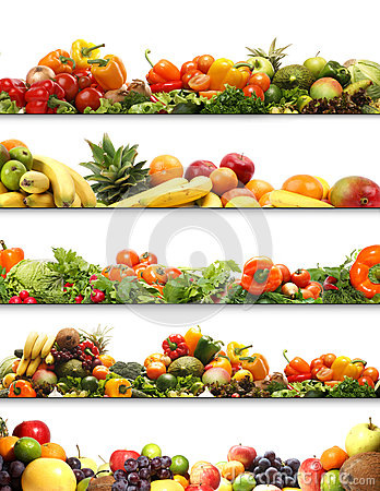 Free A Collage Of Fresh And Tasty Fruits And Vegetables Royalty Free Stock Photography - 29536357