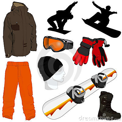 Free A Collection Of Snowboarding Gear Royalty Free Stock Photography - 8723807