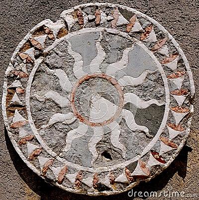 Free A Colourful Roman Geometric Mosaic Royalty Free Stock Image - 119167806