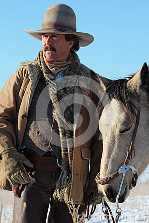 Free A Cowboy And His Horse Stock Image - 31717031