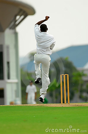 Free A Cricket Bowler Stock Images - 1084634
