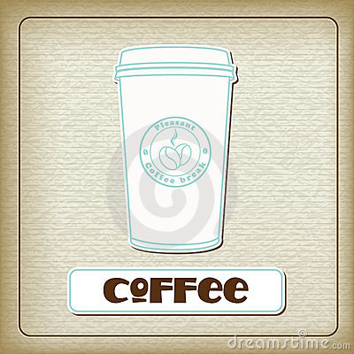 Free A Cup Of Hot Coffee On The Old Cardboard Royalty Free Stock Image - 18979186