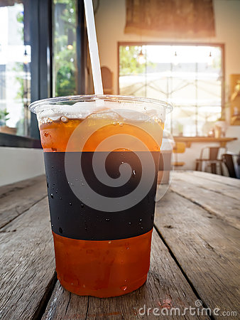 Free A Cup Of Ice Lemon Tea Stock Photo - 74297000