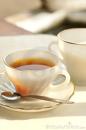 Free A Cup Of Tea In The Evening Royalty Free Stock Photo - 21209095