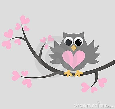 Free A Cute Owl Sitting On A Branch Royalty Free Stock Images - 17786449