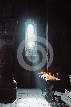 Free A Dark Background Of Old Armenian Christian Church Monastery Int Stock Photos - 103848133