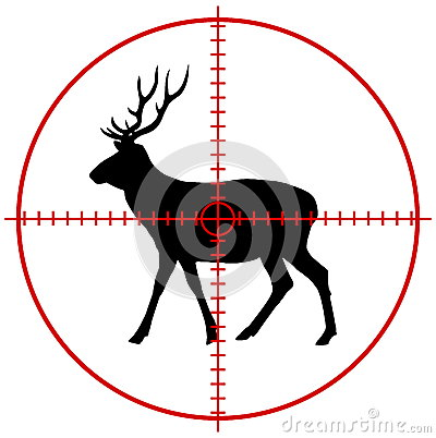 Free A Deer In A Target Stock Image - 45150981