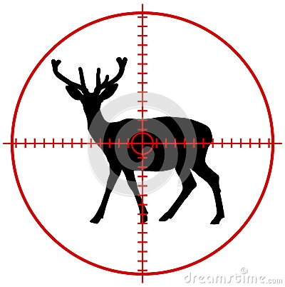 Free A Deer In A Target Stock Image - 45150991