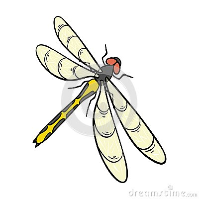 Free A Dragonfly, A Predatory Insect.Dragonfly Flying Invertebrate Insect Single Icon In Cartoon Style Vector Symbol Stock Royalty Free Stock Photography - 100686107