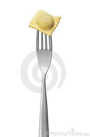 Free A Fork With Ravioli Pasta Stock Photo - 14140030