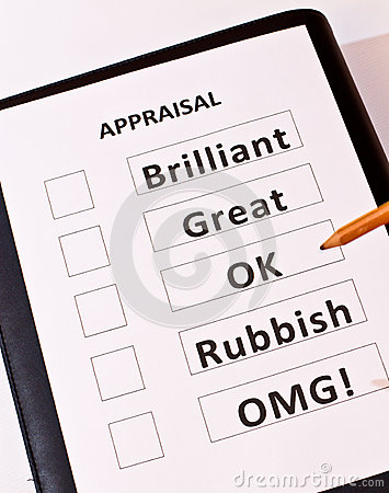 Free A Fun Performance Appraisal Form Stock Images - 25461604