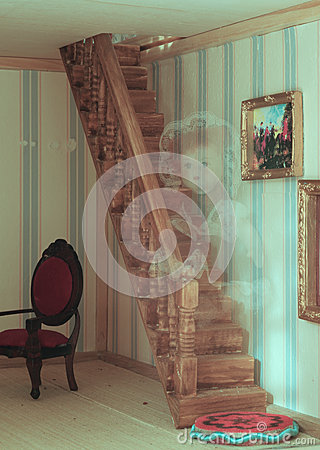 Free A Ghost In The Doll House Royalty Free Stock Photography - 53883897