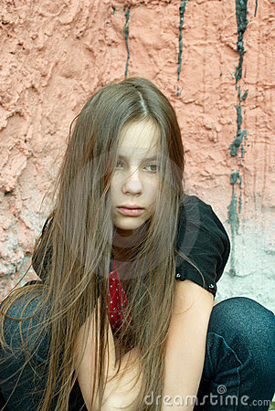 Free A Girl In Despair Royalty Free Stock Photo - 6000645