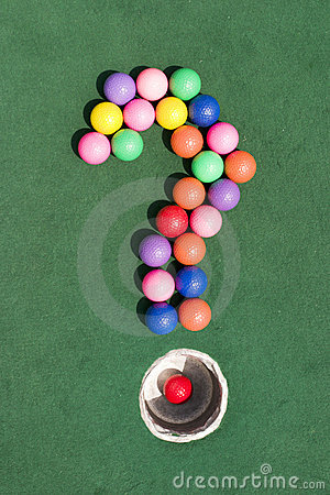 Free A Golf Question Royalty Free Stock Image - 15450256