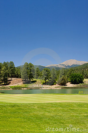 Free A Gorgeous Golf Course In Arizona Stock Photography - 7893032