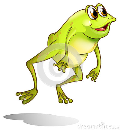 Free A Green Frog Hopping Stock Photography - 33315582