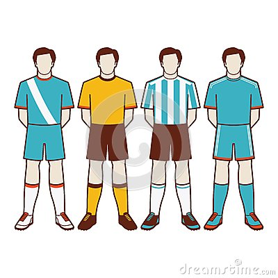 Free A Group Of Soccer Players 2 Of 2 Stock Photos - 57028063