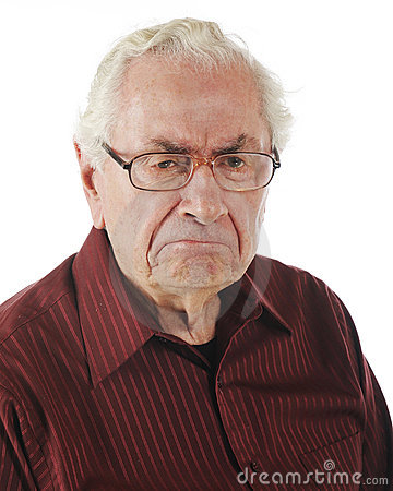 Free A Grumpy Old Man Stock Images - 19577484