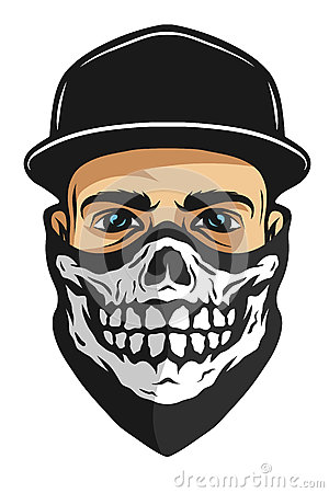 Free A Guy In A Bandana With A Skull Pattern. Stock Photo - 68040480