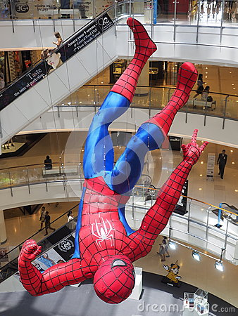 Free A Hanging Spider-Man Figurine Displayed At A Bangk Stock Photography - 40506802