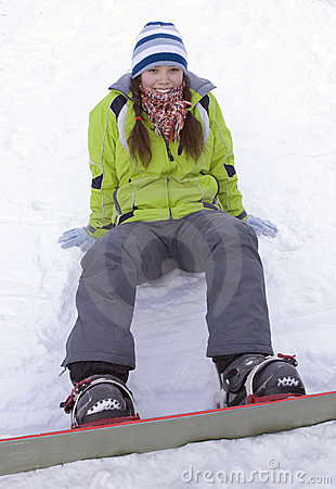 Free A Health Lifestyle Image Of Young Snowboarder Stock Photo - 4216280