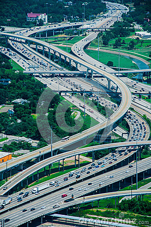Free A High View Of Houston Highways Royalty Free Stock Image - 31932276
