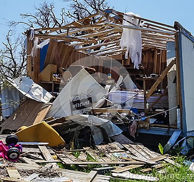 Free A Home Destroyed In The Powerful Hurricane Harvey On Texas Coast Royalty Free Stock Photography - 99366257