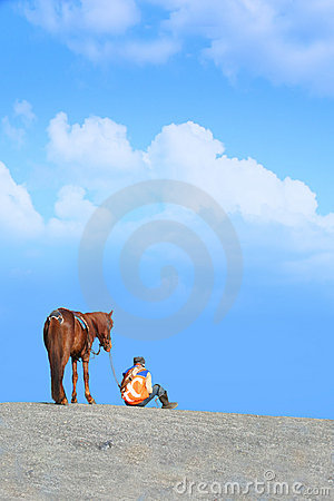 Free A Horse And Man Stock Images - 17245264
