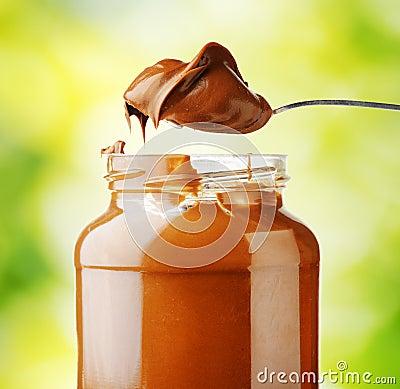 Free A Jar Of Hazelnut Chocolate Spread Royalty Free Stock Photography - 41600667