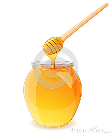 Free A Jar Of Honey And Spoon For Honey Stock Image - 57578651