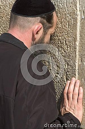 Free A Jewish Man Is Praying In Jerusalem Royalty Free Stock Images - 653059