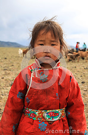 Free A Little Girl In Mongolia Stock Photo - 53983560