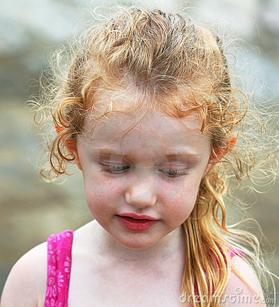 Free A Little Pensive Girl Royalty Free Stock Images - 15744519