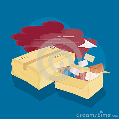 Free A Lot Of Mails & 2 Parcels Royalty Free Stock Photo - 96958315
