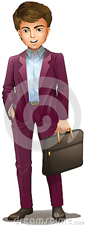 Free A Man Holding A Suitcase Stock Photography - 41345782