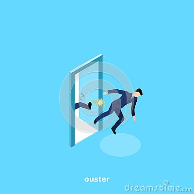 Free A Man In A Business Suit Is Kicked Out Of Work Royalty Free Stock Photo - 122006585