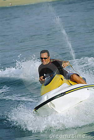 Free A Man On A Jet Ski Royalty Free Stock Image - 6077806